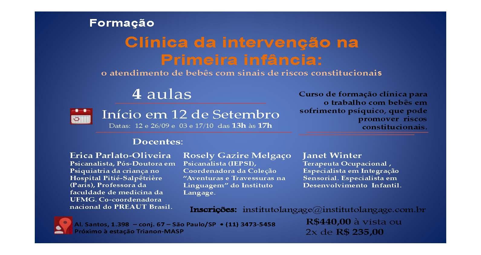 curso clinica da primeira infancia erika rosely janet 12set15