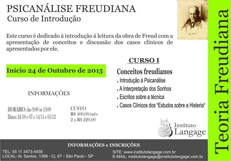 Curso Psicanalise Freud outubro 2015