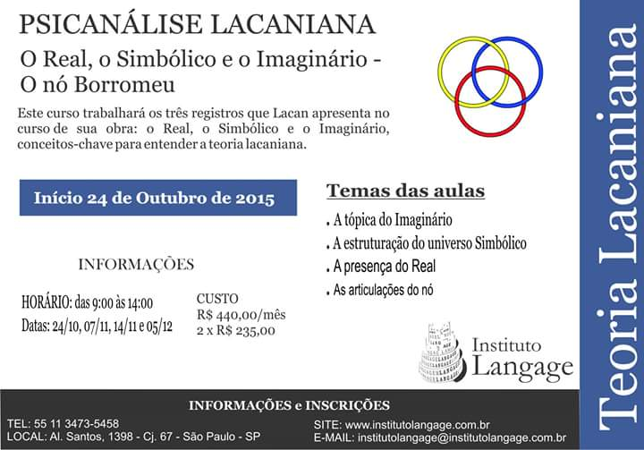 Curso psicanalise lacaniana out15