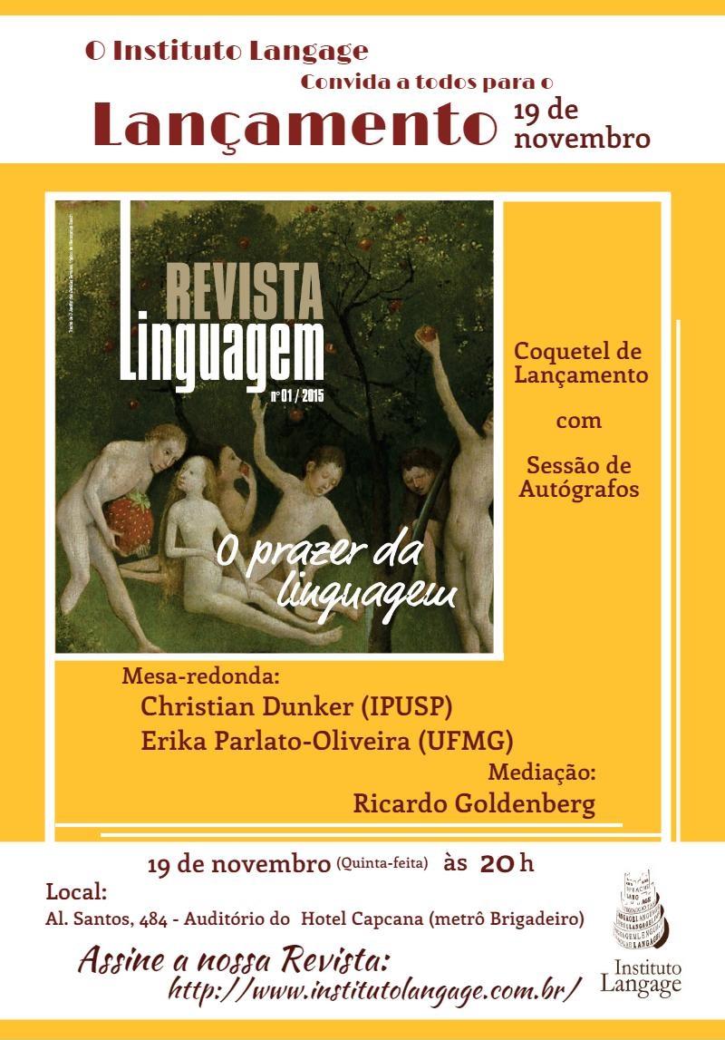 lancamento revista linguagem nov15 assine