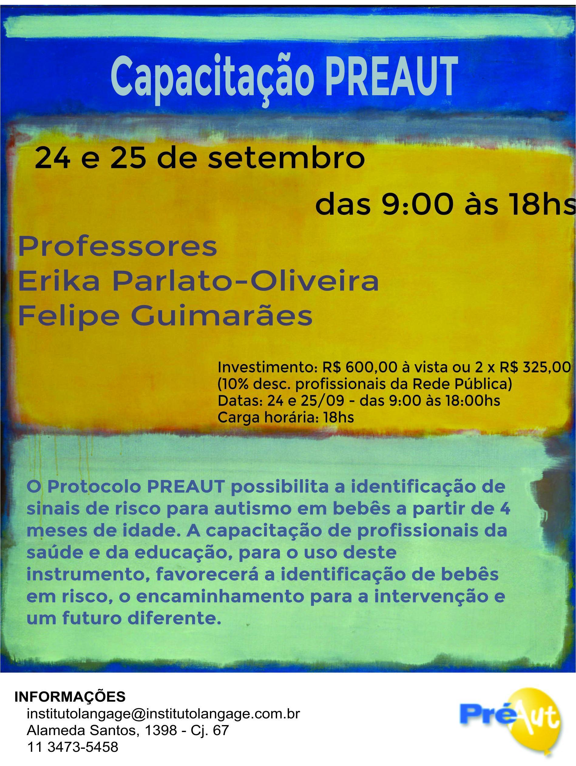 Curso capacitacao PREAU set16