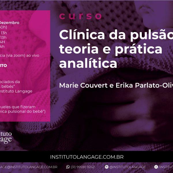 Curso Clínica da Pulsão: teoria e prática analítica (Setembro a Dezembro/2020)