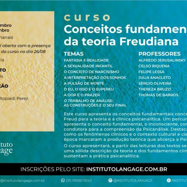 Inscrição (Alunos do curso no primeiro semestre de 2020): Conceitos Fundamentais da Teoria Freudiana (São Paulo - Setembro/2020)