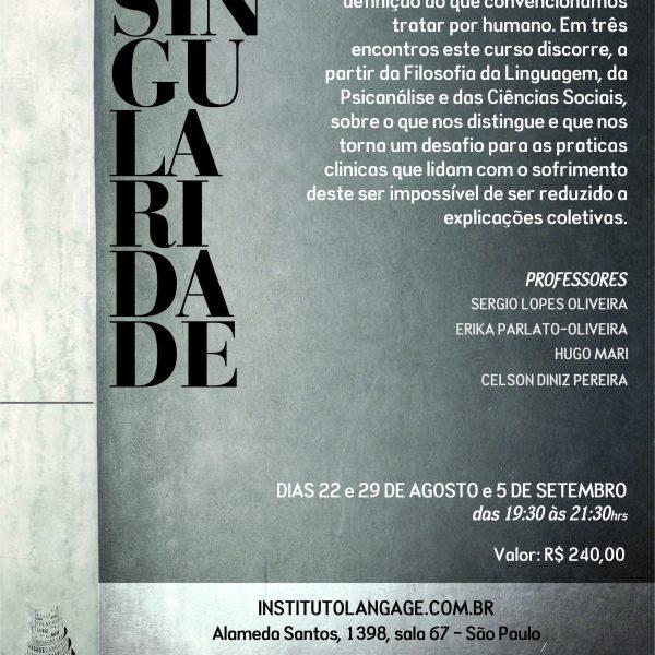 Matrícula em 3 x do Curso: Singularidade (São Paulo – Agosto/2017)